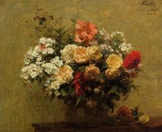 Vase of Peonies, 1902 by Henri Fantin-Latour. Realism. flower painting. Private Collection