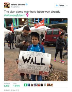 Funniest Women's March Signs From Around the World: If You Build A Wall
