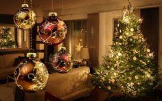 christmas scene christmas desktop wallpaper christmas background desktop xmas tree christmas tree cookies - Christmas Computer Wallpaper