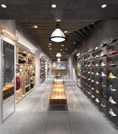 Supernews retail shoe store design, retail store design и st Boutique Interior, Shop Interior Design, Shoe Store Design, Retail Store Design, Design Food, Design Ideas, Design Exterior, Store Interiors, Retail Design