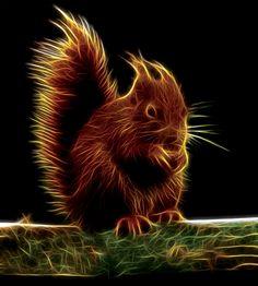 Sinister Squirrel Fractal (Red Squirrel) by Terrazzo on DeviantArt