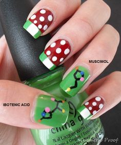 "Molecular Nails: Amanita muscaria aka ""Red Cap Mushroom of Death""!"