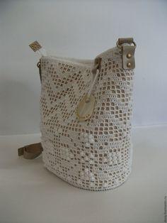 Женские сумки ручной работы. Заказать вязаная сумка-торба, цвет: белый. DoGa.bags. Ярмарка Мастеров. Сумка женская