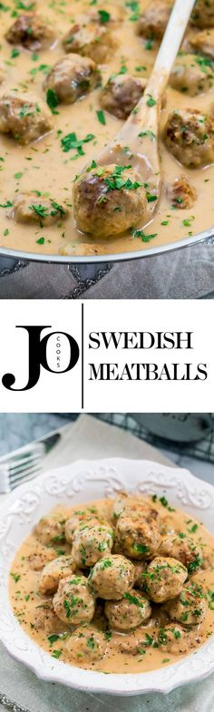 Swedish Meatballs - the mother of all meatballs. This recipe includes a mixture of ground beef and chicken with a hint of nutmeg and allspice. Learn how to make these amazing Swedish meatballs with a delicious gravy! www.jocooks.com #swedishmeatballs