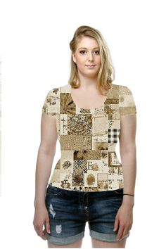 #Oarttee - Vintage Patchwork Shirt by Elena Indolfi