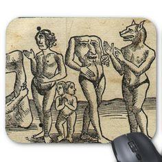 Monstruos medievales tapetes de raton de Zazzle.