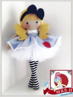 """This dolly is 19"""" tall and wears a removable skirt & tutu.  She is made to order and will take approximately 2-3 weeks.  She is suitable from birth and handwash only  As all my items are..."""