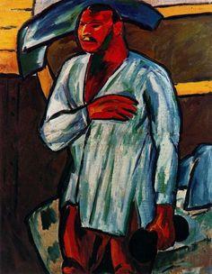 'Portrait of Vladimir Burliuk' by Mikhail Fiodorovich Larionov Russia) Picasso, Beaux Arts Lyon, Pop Art, Alexander Pushkin, Russian Avant Garde, Raoul Dufy, Avant Garde Artists, Fauvism, Expositions