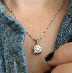 Someday I want a necklace like this! My mom has one and ever since I have wanted one too. A single solitaire diamond necklace.