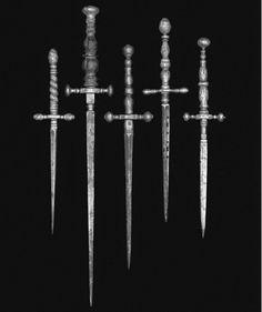 17th century Italian stiletto daggers