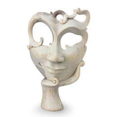 Novica Awaiting Him Wood Mask Wall Décor