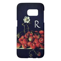 SEASON'S FRUITSSTRAWBERRIES AND STRAWBERRY FLOWER SAMSUNG GALAXY S7 CASE - vintage gifts retro ideas cyo