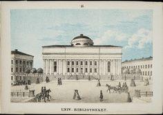 Keisarillinen Aleksanterin yliopiston kirjasto; grafiikka. Frans Oskar Liewendal. 1866