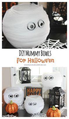 DIY Mummy Bowls - Love Create Celebrate