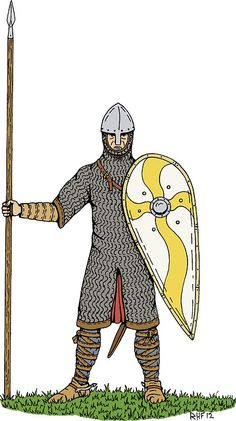 'Norman Knight, Circa Sticker by Richard Fay Norman Knight, Ottonian, Europa Universalis, Military Units, Normandy France, Bristol Board, Medieval Armor, 11th Century, Character Reference