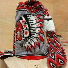 Double Knitting Patterns, Tapestry Crochet Patterns, Mochila Crochet, Tapestry Bag, Basic Crochet Stitches, Crochet Purses, Crochet Home, Crochet Trim, Crochet Pouch