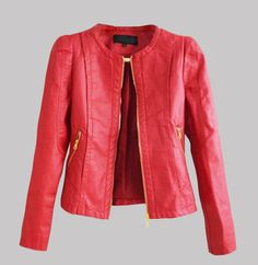 faux leather jacket PU Leather Short Jacket