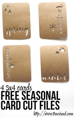 Free Silhouette Cut Friday: Seasons Cut Cards