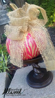"I am obsessed with fall decor and pumpkin decorating and this is one of the quickest ways to get a lot of bang for your buck with a pumpkin! This pumpkin is ""de… Autumn Crafts, Holiday Crafts, Holiday Fun, Holiday Decor, Holidays Halloween, Halloween Crafts, Halloween Decorations, Halloween Ideas, Fall Projects"