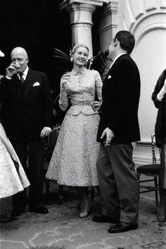 Prince Rainier III and Princess Grace at their Civil Ceremony