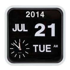 Cult Living Retro Square Calender Flip Clock - White
