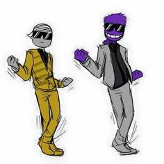 Mike and Purple Guy