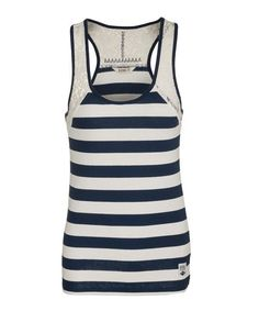 Cleo Vest (Pure Navy & Ivory) Summer Collection, Diesel, Athletic Tank Tops, Ivory, Vest, Pure Products, Navy, Spring, Women