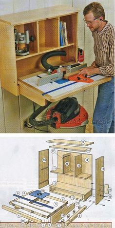 Wall-Mounted Router Table Plans - Router Tips, Jigs and Fixtures | WoodArchivist.com