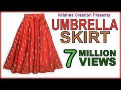 Umbrella Skirt ,अम्ब्रेला स्कर्ट , Drafting, Cutting & Stitching in Hindi By Krishna Creation - YouTube