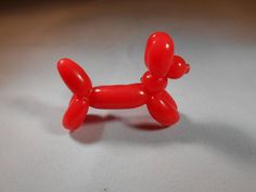 Balloon Dog Brooch Fimo Polymer Clay by katkraftuk on Etsy