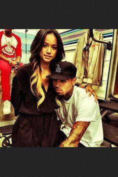 """""""Goodluck baby"""" Karrueche and Chris Brown"""