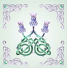 Celtic Three Thistles Stencil Designs from Stencil Kingdom
