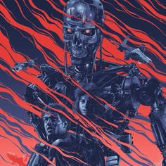 Sick artwork by Gabz.  #80s #retro #newretrowave #nrw #synthwave #dreamwave #retrowave #art #artwork #painting #design #terminator #t3 #epic #vintage #scifi #dark #culture #robot #cyberpunk