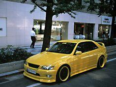 Yellow Toyota Altezza