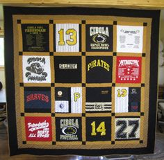 t shirt quilt layout - Google Search