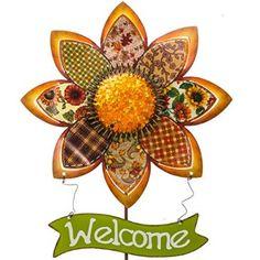 Metal Sunflower Stakes http://shop.crackerbarrel.com/Metal-Sunflower-Stakes/dp/B00MGPCT24
