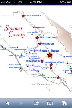 Map of West Sonoma