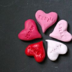 The heart of the family.  Personalized hearts for everyone in your family.