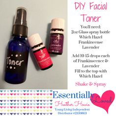 Diy rose water facial toner perfect for dry skin cleanses and diy yl labender frankincense facial toner solutioingenieria Image collections