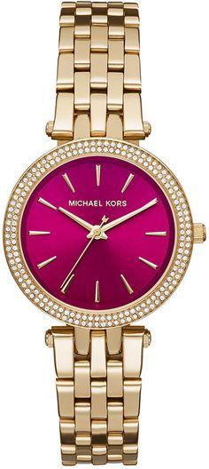 Michael Kors Women's Mini Darci Gold-Tone Stainless Steel Bracelet Watch 33mm MK3444