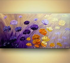 Hey, j'ai trouvé ce super article sur Etsy, chez https://www.etsy.com/fr/listing/250163678/decor-painting-purple-floral-painting-48