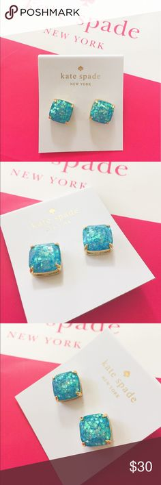 New Kate Spade glitter square stud earrings Brand new and never used. Super pretty!!!                                         ❌no trade ❌no lowballing offers!!! kate spade Jewelry Earrings