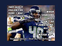 Seahawks Derrick Coleman Deaf But Not Defeated