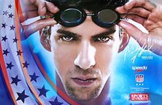 Michael Phelps READY USA Swim Team Poster - available at www.sportsposterwarehouse.com