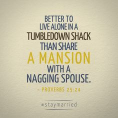 To Nag and to Scold from this day forward - #staymarried