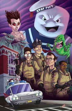 Funky #Ghostbusters artwork by Nate Lovett
