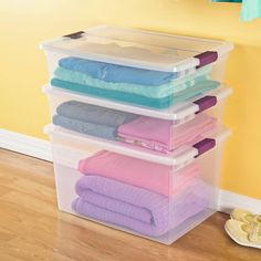 Plastic Storage Bins - 10 Products You Need To Live Your Most Organized Life - Southernliving. Buy It: $7.99; amazon.com  These handy plastic bins come in all shapes and sizes—including narrow shoebox-style bins (great for organizing bathroom supplies), under-the-bed boxes (ideal for gift wrap), and oversized bins (perfect for long-term seasonal storage). They're made for stacking, and their sturdy, latching lids won't budge.