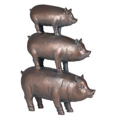 Found it at Wayfair.co.uk - Antique Bronze Stacked Pigs Figurine