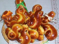 1612. sladké velikonoční pečivo od Želka - jidáše - recept pro domácí pekárnu Easter Bun, Pretzel Bites, Bread, Baking, Fruit, Cupcake, Sweet, Hana, Cakes