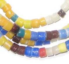 Summer Medley Sandcast Cylinder Beads